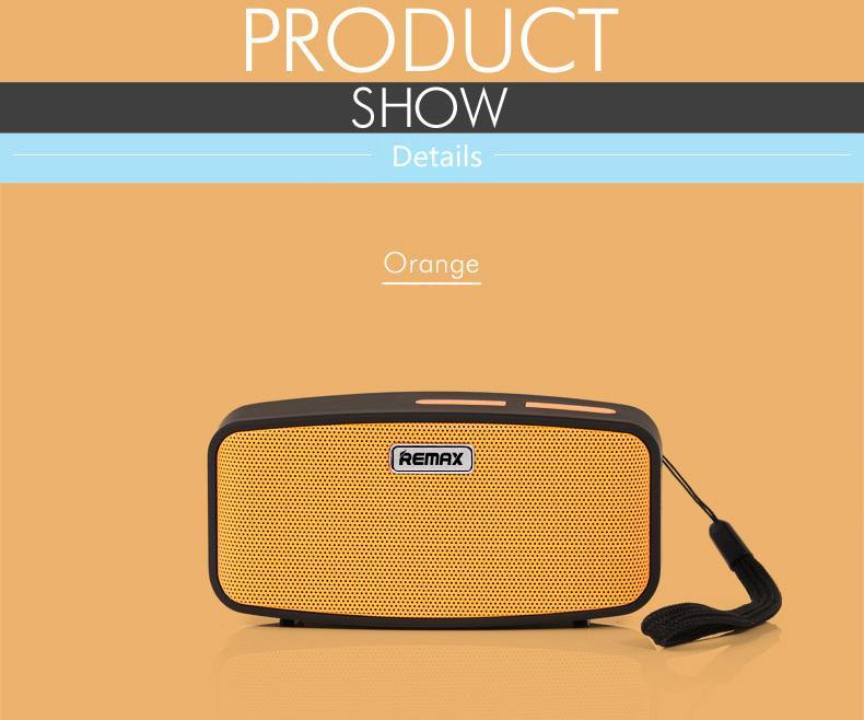 Přenosné Remax repráky k mobilu v oranžové neboli orange barevném provedení.