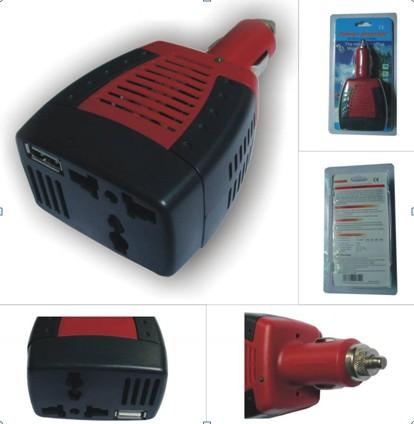 Měnič napětí CL 12V - DC 12V do auta s USB výstupem.