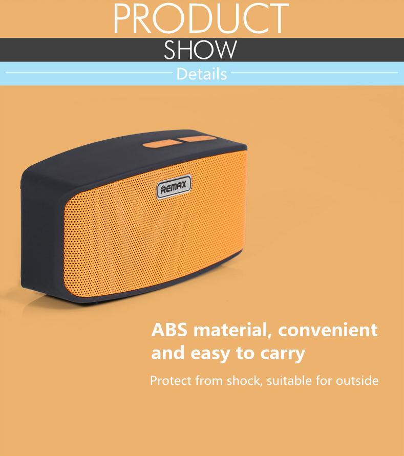 Bezdrátový reproduktor k mobilu je vyroben z odolného ABS plastu s ochranou proti otřesům a nárazům při venkovním použití.