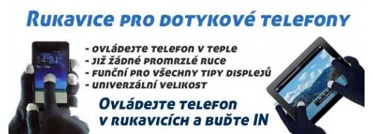Rukavice pro dotykové telefony MP3naMiru.cz