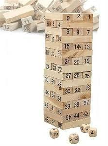 Zručnostní a intelektuální společenská hra dřevěná věž.