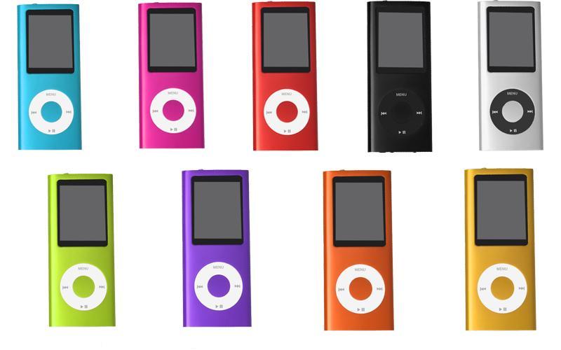 "MP4 přehrávače 8 GB s 1,8"" LCD displejem, FM rádio, diktafon, e-book, hry. 9 barev."