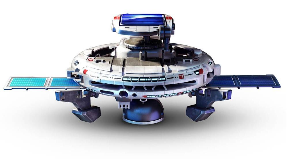Solární kosmos robot může být přeskládán do 7 různých podob, které zahrnují jak funkční, tak vtipné pohyblivé modely.