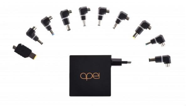 Ultrakompaktní, snadno použitelný napájecí adaptér pro mnoho typů mininotebooků či netbooků. Je dodáván s 10 koncovkami a nabídne výstupní výkon až 90W.