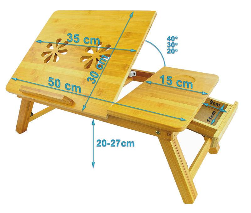 Jednoduché změny výšky sklonu stolku + šuplík.