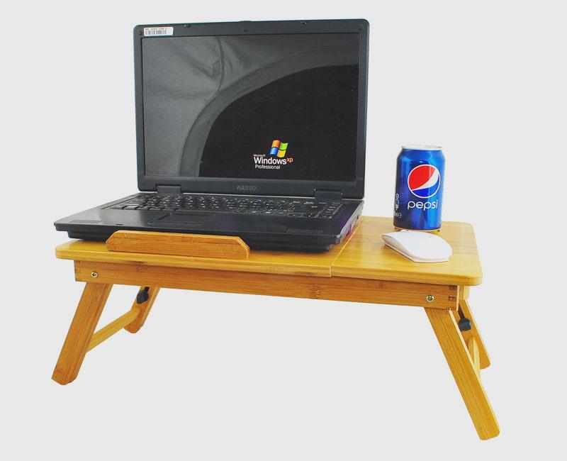 Nastavitelný stolek na nožkách pod notebook, kvalitní provedení z bambusu.