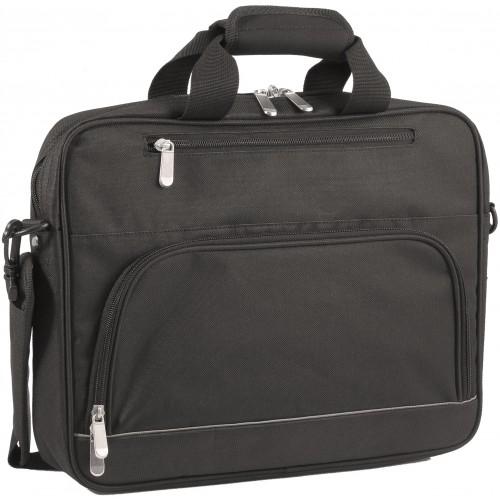 Tato taška černé barvy se pyšní dostatečně velkým vnitřním hlavním prostorem, který umožní bezpečné a praktické uložení vašeho zařízení.