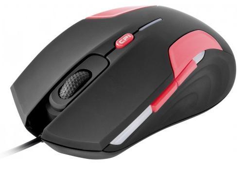 Symetrický tvar této černo-červené myši s pogumovaným povrchem nedovolí vaší ruce sklouznout ani v ten nejdůležitější moment při hraní her.