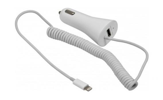 """Mobilní CL """"Cigaretová"""" nabíječka mobilních telefonů iPhone pro více druhů napájení v autě."""