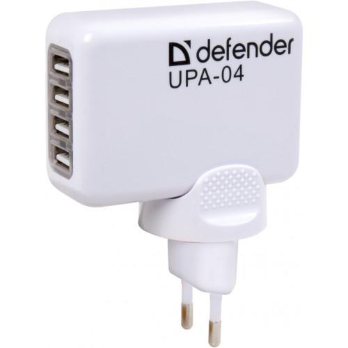 Nabíječka 4x USB port, 1A, 2A, pro zásuvky 110-240V, vhodné pro mobilní telefony, přenosné přehrávače, digitální fotoaparáty apod.