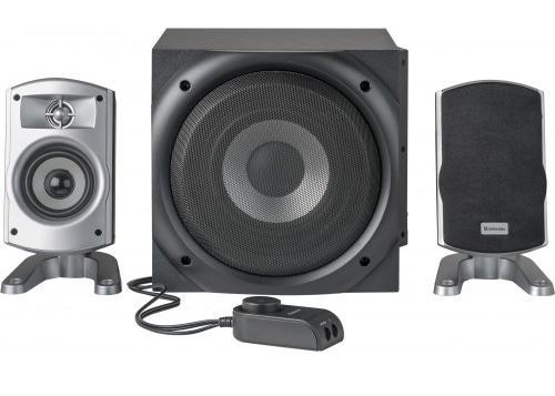 Reproduktorova sestava 45W Defender I-WAVE S45 pro akustický 2.1 poslech MP3 hudby, filmu či her s dálkovým ovladačem!