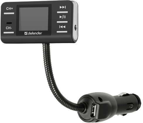 Multimediální-auto zařízení s MP3 přehrávačem a FM modulátorem, pro bezdrátový přenos hudby z paměťové karty flash nebo AUX 3,5jack do osobního i nákladního automobilu.