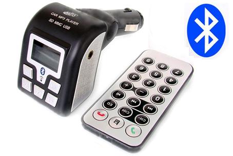 FM Transmitter s podporou Bluetooth handsfree umožňuje přehrát vaší oblíbenou skladbu na jakýkoliv FM přijímači. FM Transmitter je ideální k bezdrátovému poslechu vaší oblíbené hudby z CD přehrávače, iPodu, DVD přenosného přehrávače nebo MP3 přehrávače ve vašem vozidle pomocí 3,5 mm jacku.