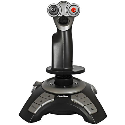 Na leteckém joysticku oceníte 12 programovatelných tlačítek umožňují nastavení ovládacích prvků na funkce, které potřebujete. Také i 4-way kloboukový spínač a další potřebné ovládací prvky, díky kterým funkci budete mít více možností manévrování a realističtější řízení letu.