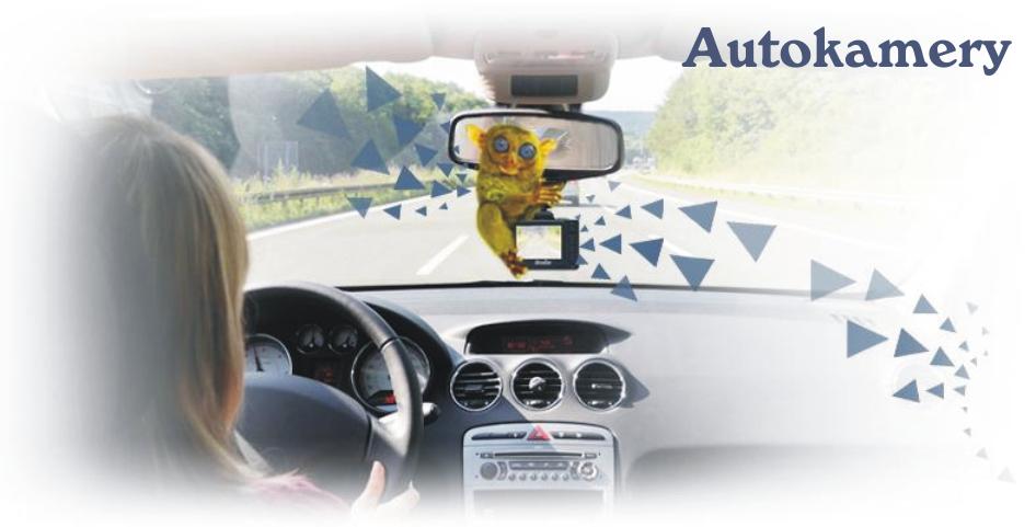 Záznamové autokamery s držáky pro silniční vozidla.