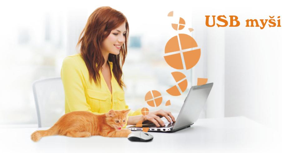 Kabelové i bezdrátové USB myši vhodné k počítači i notebooku.