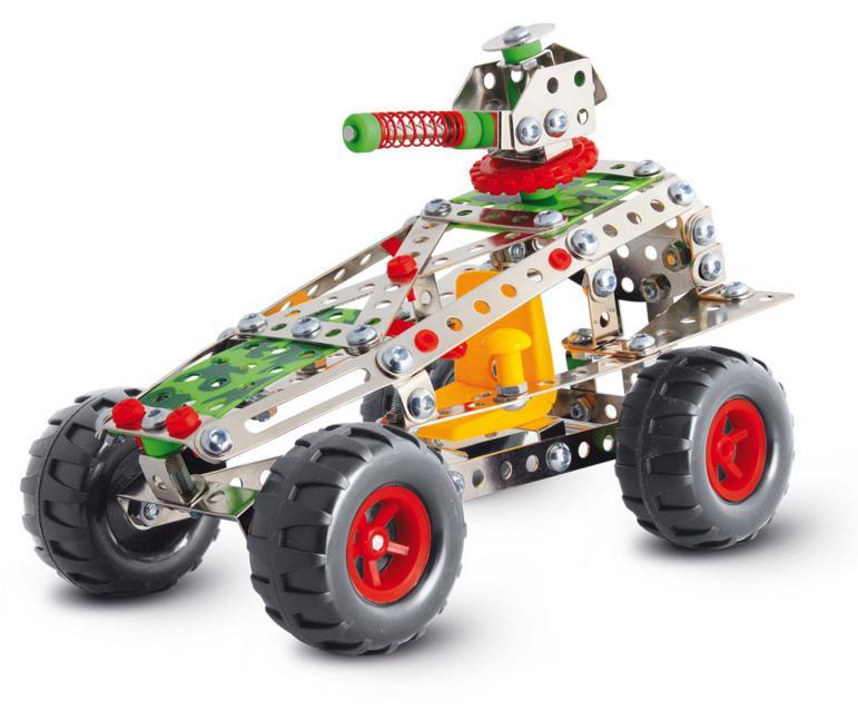 Stavebnice představuje báječnou hračku pro všechny malé kutily a konstruktéry! Pořiďte svému dítěti tuto skvělou ocelovou stavebnici auta a už si nebude chtít hrát s ničím jiným.