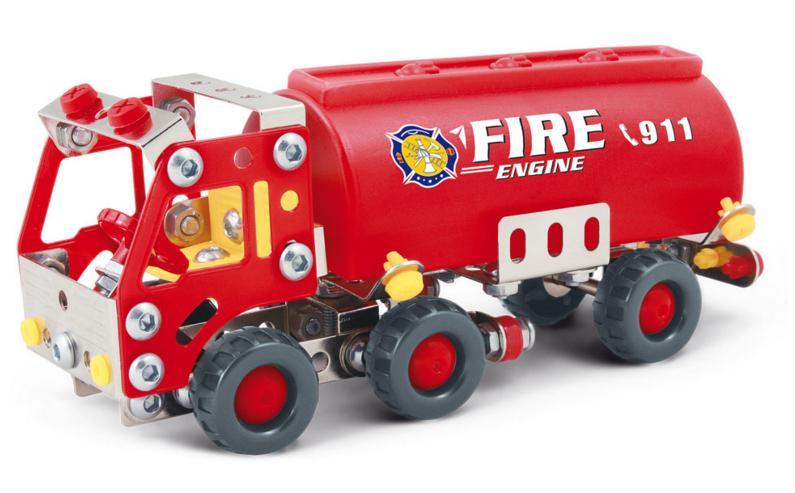 Stavebnice představuje báječnou hračku pro všechny malé kutily a konstruktéry! Pořiďte svému dítěti tuto skvělou ocelovou stavebnici hasičského auta a už si nebude chtít hrát s ničím jiným.