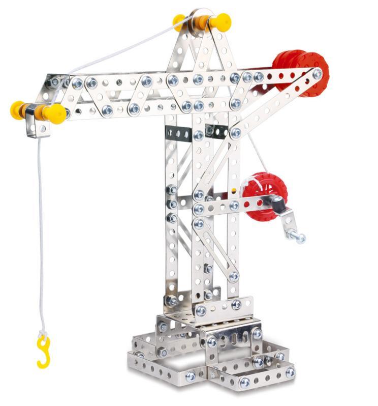 Stavebnice představuje báječnou hračku pro všechny malé kutily a konstruktéry! Pořiďte svému dítěti tuto skvělou ocelovou stavebnici jeřábu a už si nebude chtít hrát s ničím jiným.