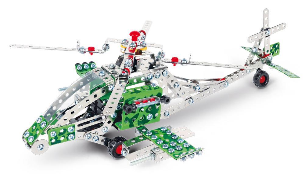 Stavebnice představuje báječnou hračku pro všechny malé kutily a konstruktéry! Pořiďte svému dítěti tuto skvělou ocelovou stavebnici vrtulníku a už si nebude chtít hrát s ničím jiným.