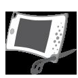 Grafický tablet má zabudovaný slot na stylus pro použití jako stojánek.