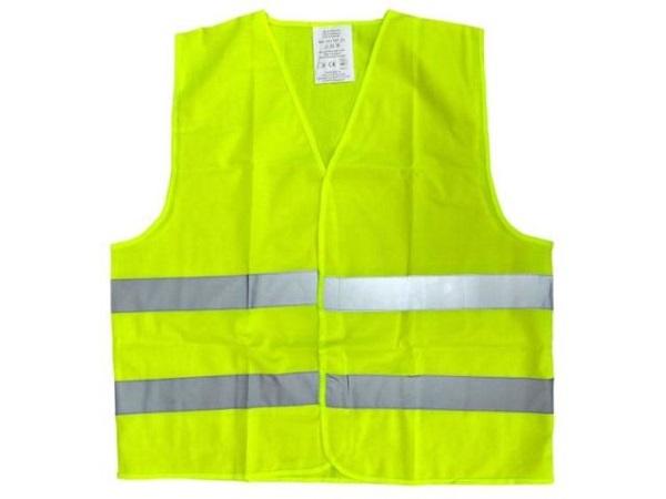 Reflexní vesta žlutá je ideální bezpečnostní prvek s vysokou viditelností v silničním provozu určený k nošení přes svrchní oděv.