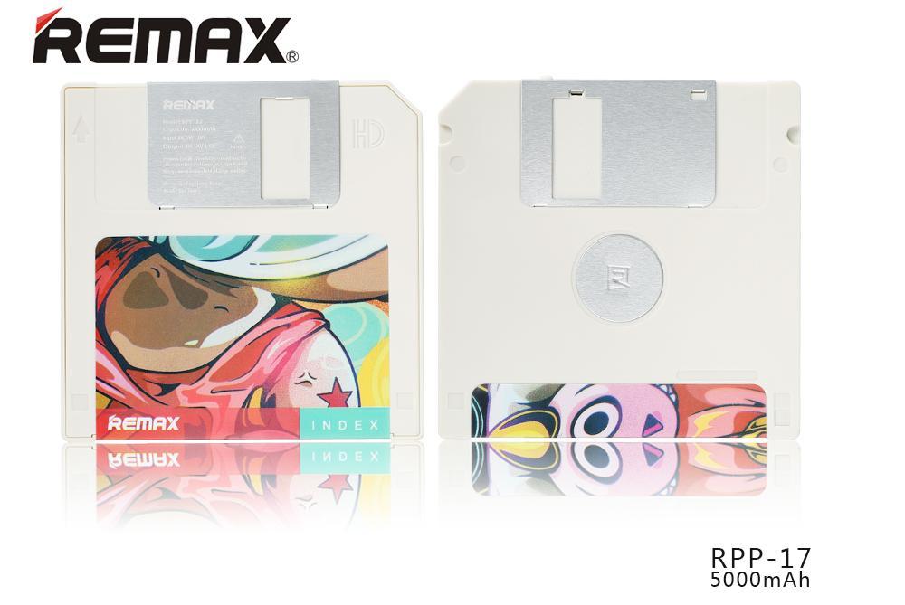 Remax nabízí pro všechny IT pamětníky přenosnou nabíjecí baterii ve stylu klasické diskety pro pohodlné nabití elektronických zařízení kdekoliv na cestách.