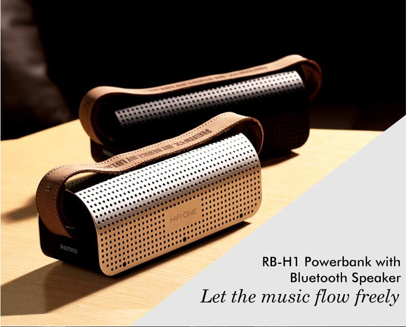 Přenosný Bluetooth reproduktor NFC Remax H1 stereo aktivní systém.