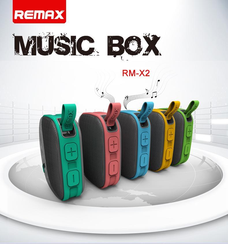Přenosný reproduktor Remax X2 je skvělým řešením pro bezdrátový poslech hudby z chytrých telefonů, tabletů a hudebních přehrávačů kdekolív v přírodě nebo na cestách.