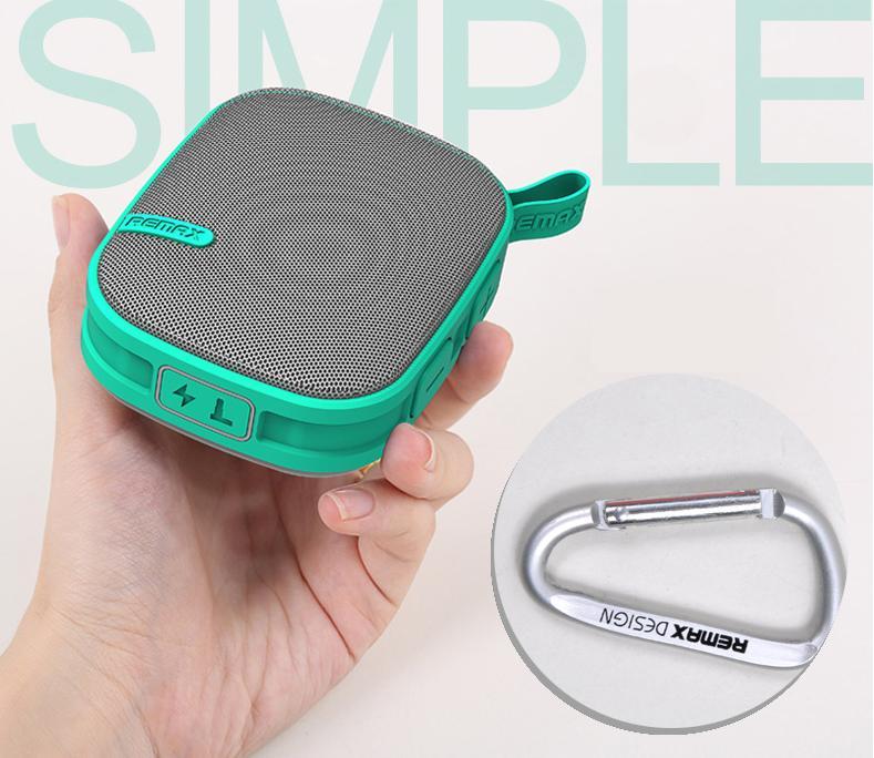 Remax X2 je kompaktní a lehký, takže se snadno vejde do batohu nebo v kapse. Silicone Skin design je nepromokavý, prachotěsný a také jako proti-nárazová ochrana reproduktoru.