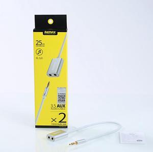 Remax RL-S20 Audio 3.5mm jack 2x jack 3.5mm rozbočovač v krabicovém obalu.