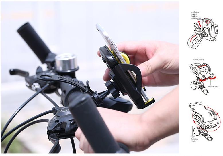 Maximálně flexibilní držák pro mobilní telefony na cyklistické kola od značky Remax je lehký, velmi kompaktní a jednoduše ho přizpůsobíte podle jakékoliv situace.