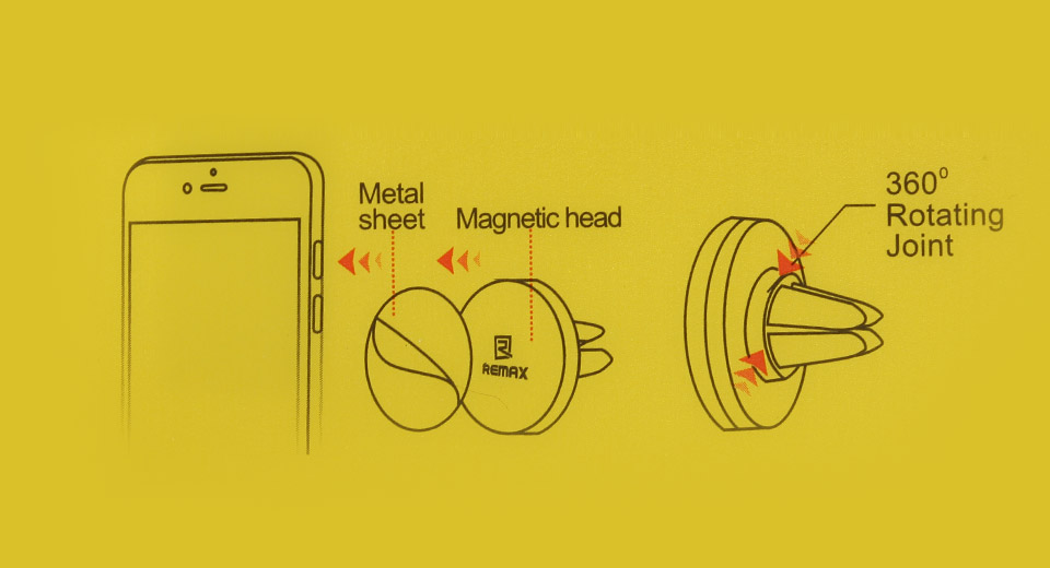 Magnetický držák obsahuje dvě nalepovací kovové destičky pro dvě různá zařízení.