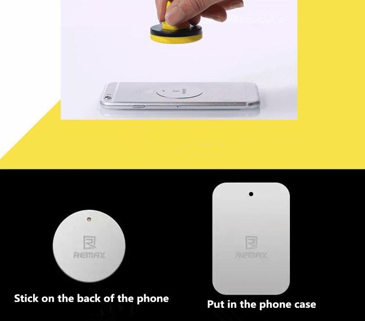 Součástí balení jsou dvě destičky, přičemž jedna je určená pod pouzdro s kouskem lepící pásky, pak kulatá také s lepící páskou. Jednu z destiček si vyberete a po nalepení pak telefon snadno přichytíte k magnetickému držáku.