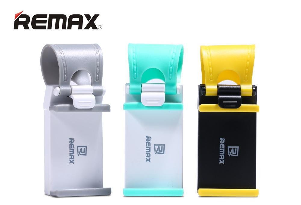 Maximálně flexibilní držák pro mobilní telefony do auta k připevnění a volant nebo řidítka kola od značky Remax je lehký, velmi kompaktní a jednoduše ho přizpůsobíte podle jakékoliv situace.