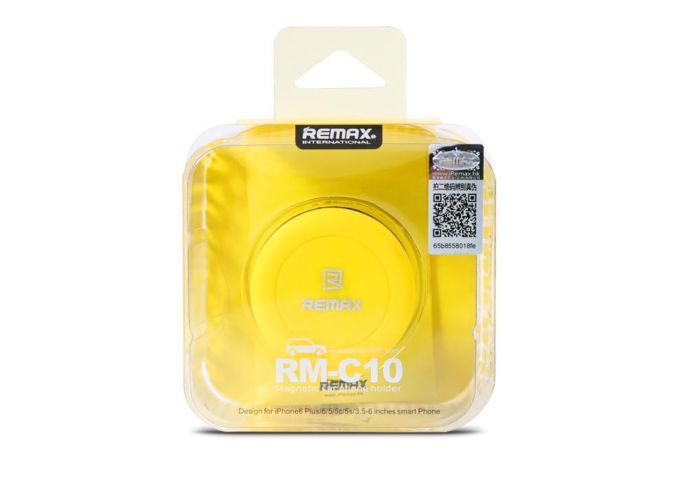 Jeho instalace i manipulace s ním je až neuvěřitelně rychlá a jednoduchá. Toto příslušenství je vyrobeno z vysoce odolného ABS plastu a kromě volantu automobilu lze praktický držák využít i na řídítka kola.Malý magnetický držák Remax RM C10 na ventilační mřížku automobilu. Součástí balení je 2x speciální destička, která se nalepí na Váš mobilní telefon.