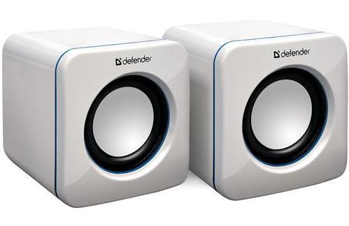 Kompaktní přenosné USB reproduktory Defender bílé, které Vás jistě zaujmou svými rozměry a povedeným vzhledem!