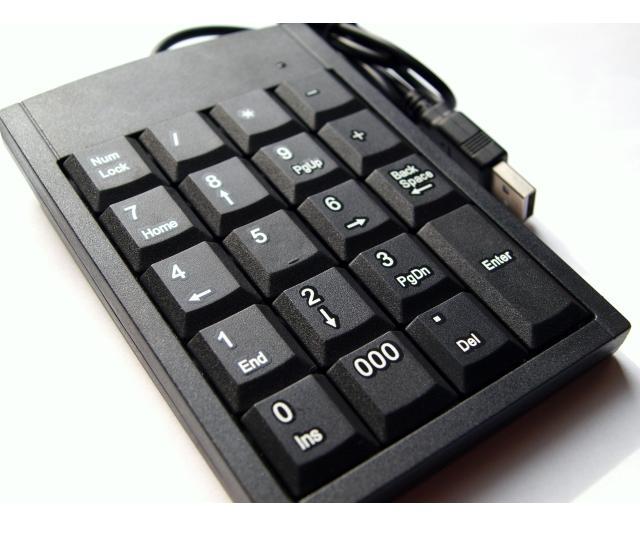 Přenosná USB numerická klávesnice pro Váš stolní PC, tablet či laptop!