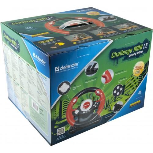 Defender herní volant s pedály ve vkusném obalu je vhodný jako dárek!
