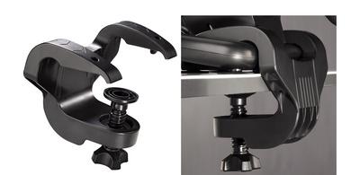 Pro pevnější přichycení herního volantu ke stolu lze použít speciální držák (svorku), který naleznete v balení.
